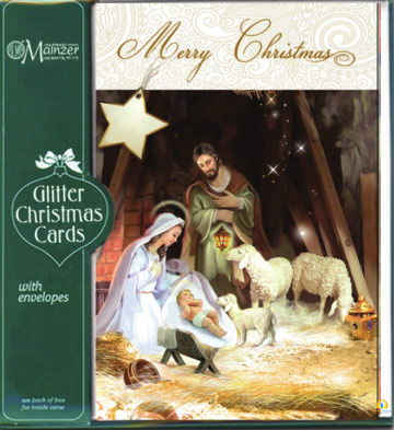 16 merry christmas glitter christmas cards with envelops