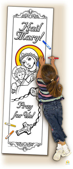 catholic coloring pages hail mary - photo#25